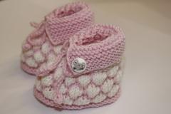 Babyschüchen in Weiß-Rosa